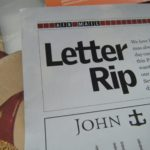 "Introducing ""Just Letter Rip"""